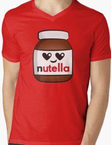 Nutella face 5 Mens V-Neck T-Shirt