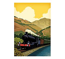 Steam Train-Douro valley Photographic Print