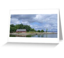 The Boathouse at Parker Point Greeting Card