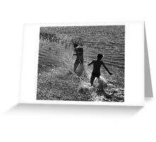 Water Game Greeting Card
