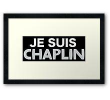 Je Suis Chaplin  Framed Print