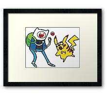 Pokemon Adventure Time Framed Print