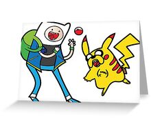 Pokemon Adventure Time Greeting Card