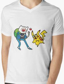 Pokemon Adventure Time Mens V-Neck T-Shirt