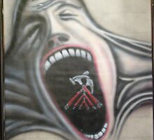 """""""screaming face from the wall"""" by adrian davis"""