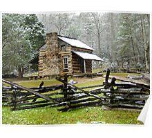 Elijah Oliver Cabin, Great Smoky Mountain National Park Poster