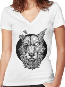 Migraine Shirt Women's Fitted V-Neck T-Shirt