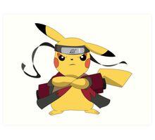 Pikachu Naruto Art Print
