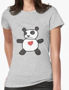 my creepy panda doll Womens Fitted T-Shirt