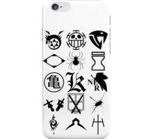 Anime Logos 2_Black iPhone Case/Skin