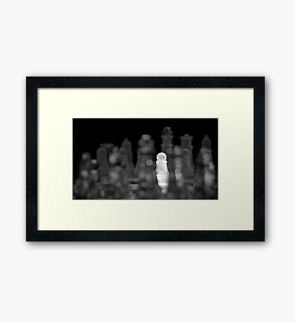 Chess 5: The brave one Framed Print
