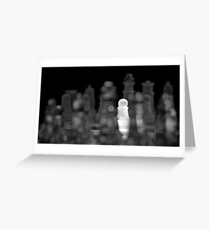 Chess 5: The brave one Greeting Card