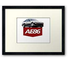 TOYOTA AE86 Framed Print