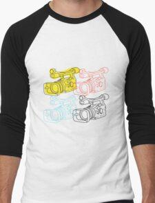 Primary Camera Grid Men's Baseball ¾ T-Shirt