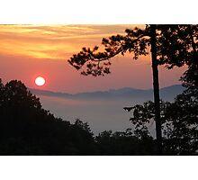 summer smoky sunrise Photographic Print
