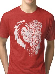 Psychedelly Lion Tri-blend T-Shirt