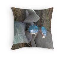 Wadsworth dragonfly in winter Throw Pillow