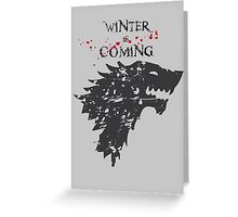 Grunge winter Greeting Card