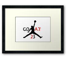 GOAT Jordan Framed Print