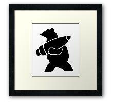 Voytek the Soldier Bear Framed Print