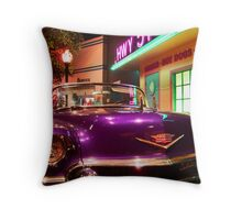 Elvis's pimp mobile in Cholo Throw Pillow