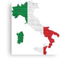 Italy Flag Map Canvas Print