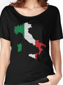 Italy Flag Map Women's Relaxed Fit T-Shirt
