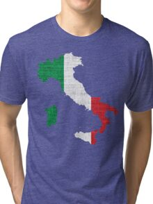 Italy Flag Map Tri-blend T-Shirt