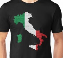 Italy Flag Map Unisex T-Shirt