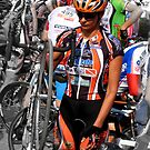 Beautiful Italian Cyclist by Keith Richardson