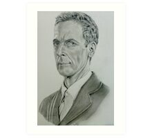 Peter Capaldi as the twelfth Doctor Art Print