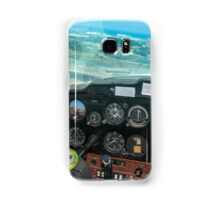Pilot flying a Cessna plane  Samsung Galaxy Case/Skin