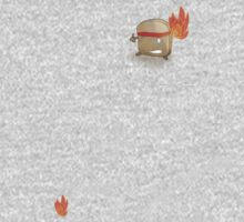 Toast Ninja - Flaming Fists?  Kids Clothes