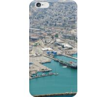 Aerial Photography of Haifa Harbour, Israel  iPhone Case/Skin