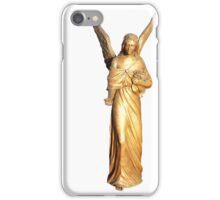 Golden gilt metal statuette of an angel iPhone Case/Skin
