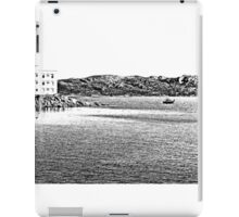 Island La Maddalena: sea landscape building and boats iPad Case/Skin