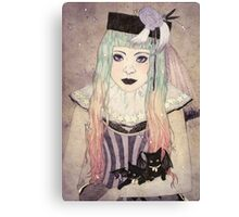 Pastel Goth Princess Canvas Print