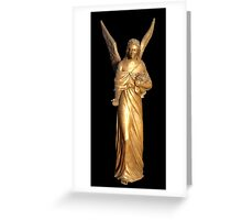 Golden gilt metal statuette of an angel Greeting Card