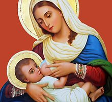 Mary Holding Baby Jesus by muniralawi