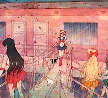 Sailor Scouts at the Pink Hotel by Jasmin Garcia-Verdin