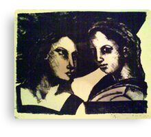 Stone Litho  Canvas Print