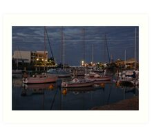Boat haven Townsville Art Print