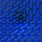 3D Effect - Blue Wireframe by Lyle Hatch