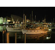 Night light on the water Photographic Print