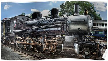 Baldwin 2-8-0 Consolidation Locomotive by Mike  Savad
