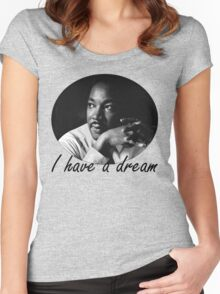 martin luther king Women's Fitted Scoop T-Shirt