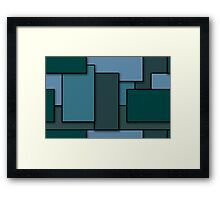 Blocks (BlueGreen) Framed Print