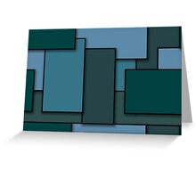 Blocks (BlueGreen) Greeting Card