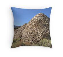 The Wildrose Charcoal Kilns Throw Pillow