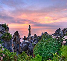 Candle Rock - Chuam Beach  by Bobby McLeod